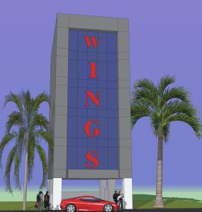 FRONT ELEVATION - wings